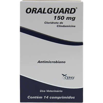 Antibiótico Oralguard 150mg Caixa Com 14 Comprimidos