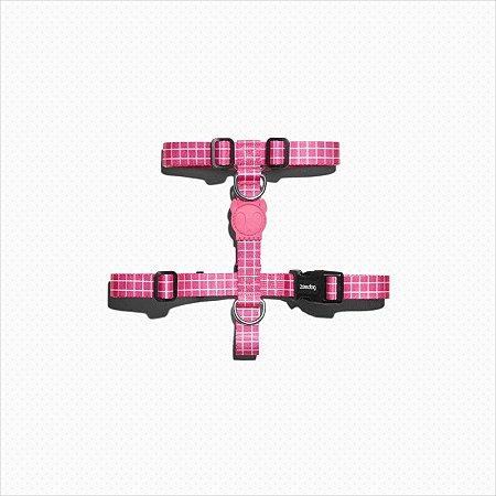 Peitoral H Zee Dog Pink Wave G