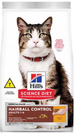 Ração Hill's Science Diet Gato Adulto Controle Bola De Pelo 6kg