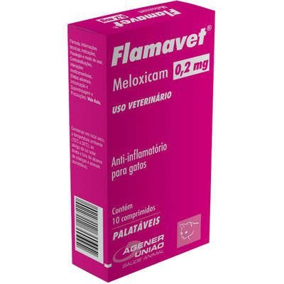 Anti-Inflamatório Flamavet 0,2mg Caixa Com 10 Comprimidos
