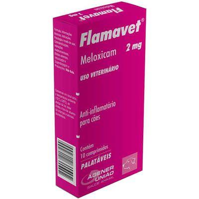 Anti-Inflamatório Flamavet 2mg Caixa Com 10 Comprimidos