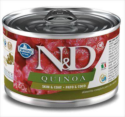 N&D Quinoa Cão Lata Skin & Coat Pato 140g