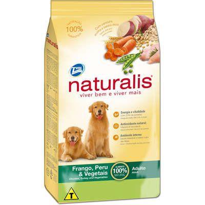 Ração Naturalis Cão Adulto Frango, Peru E Vegetais 15kg