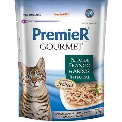 Sachê Premier Gourmet Gato Adulto Frango 70g