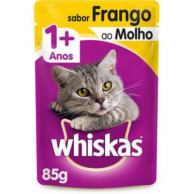 Sachê Whiskas Gato Adulto 1+ Frango Ao Molho 85g
