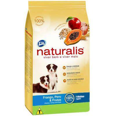 Ração Naturalis Cão Filhote Frango, Peru E Frutas 15kg