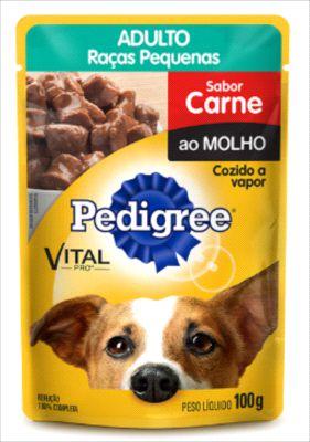 Sachê Pedigree Cão Adulto Raça Pequena Carne Ao Molho 100g