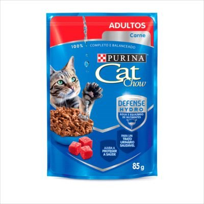 SACHE CAT CHOW GATO ADULTO CARNE 85G