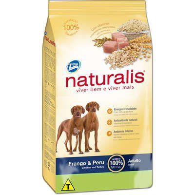 Ração Naturalis Cão Adulto Frango E Peru 15kg