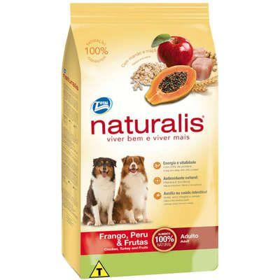 Ração Naturalis Cão Adulto Frango, Peru E Frutas 2kg