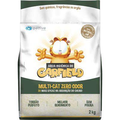 Areia Do Garfield Multicat Bio Fina 2kg