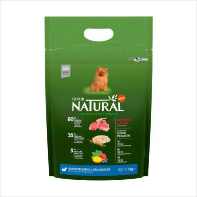 Ração Guabi Natural Cao Adulto Raça Pequena Cordeiro E Aveia 2,5kg