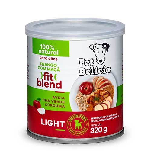 Lata Pet Delicia Cão Adulto Fit Blend Frango Com Maçã 320g