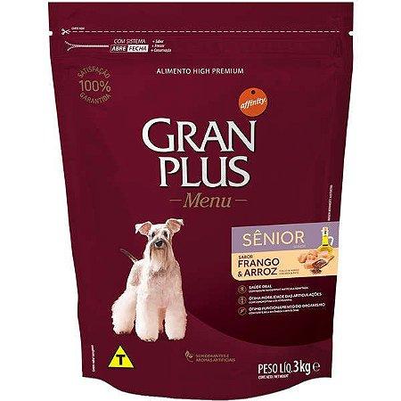 Ração Gran Plus Menu Cão Sênior Frango E Arroz 3kg
