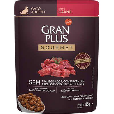 Sachê Gran Plus Gourmet Gato Adulto Carne 85g