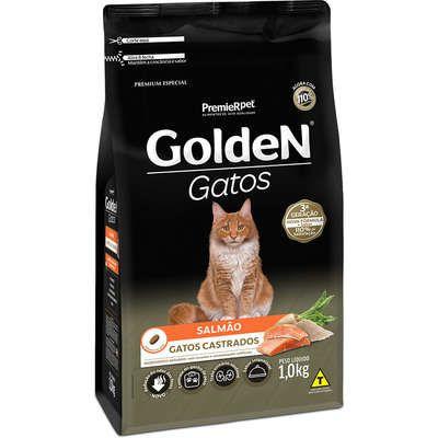 Ração Golden Gato Adulto Castrado Salmão 1kg