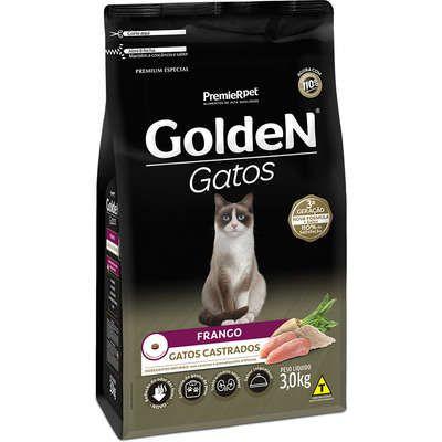 Ração Golden Gato Adulto Castrado Frango 3kg