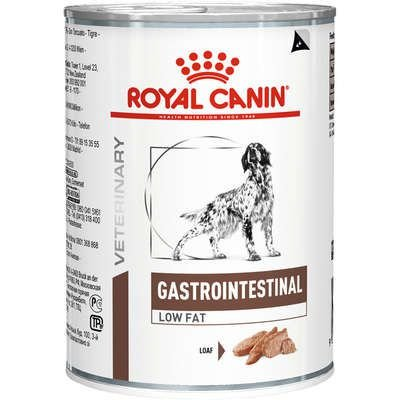 Lata Royal Canin Veterinary Diet Cão Gastro Intestinal Low Fat 410g