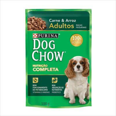 Sache Dog Chow Cao Adulto Raça Pequena Carne E Arroz 100g