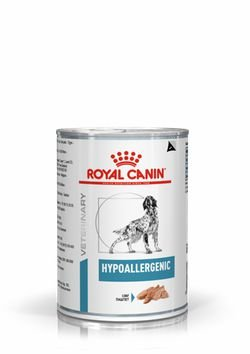 Lata Royal Canin Veterinary Diet Cão Hypoallergenic 400g