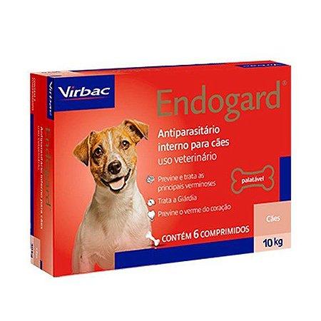 Vermífugo Endogard Cão Até 10kg Caixa Com 6 Comprimidos