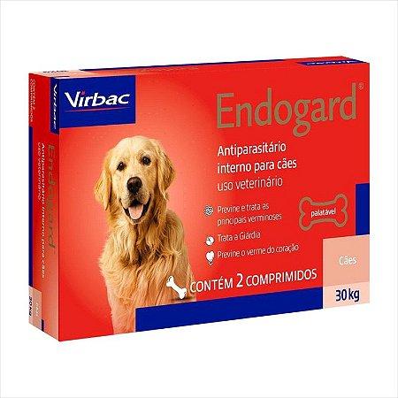 Vermífugo Endogard Cão Até 30kg Caixa Com 2 Comprimidos