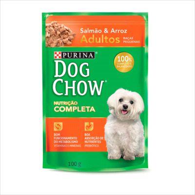 Sache Dog Chow Cao Adulto Raça Pequena Salmao E Arroz 100g