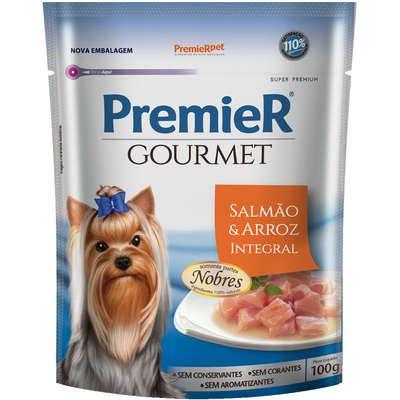 Sachê Premier Gourmet Cão Adulto Salmão 100g