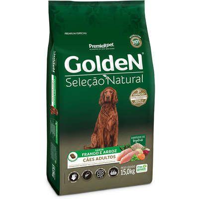 Ração Golden Seleção Natural Cão Adulto Frango E Arroz 15kg