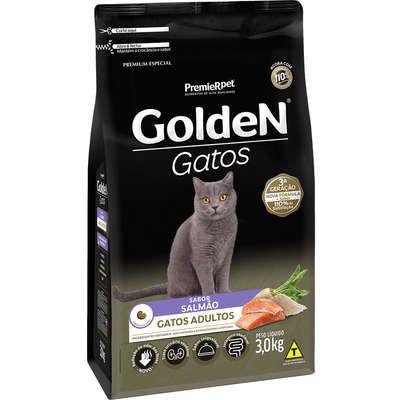 Ração Golden Gato Adulto Salmão 3kg