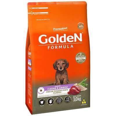Ração Golden Fórmula Cão Filhote Pequeno Porte Carne E Arroz 3kg