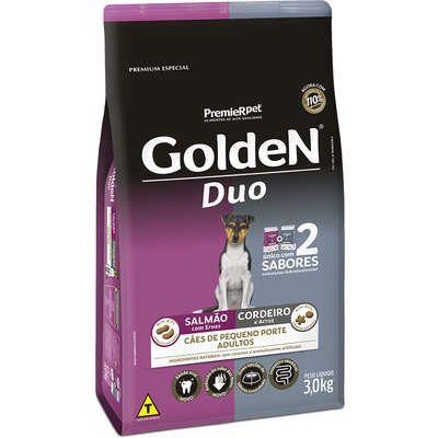 Ração Golden Duo Cão Adulto Pequeno Porte Salmão E Cordeiro 3kg