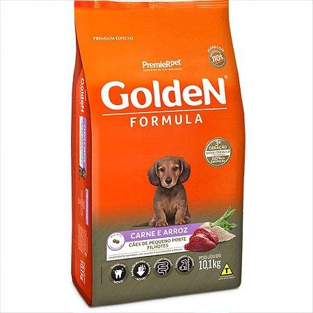 Ração Golden Fórmula Cão Filhote Pequeno Porte Carne E Arroz 10,1kg