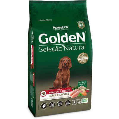 Ração Golden Seleção Natural Cão Filhote Frango E Arroz 15kg