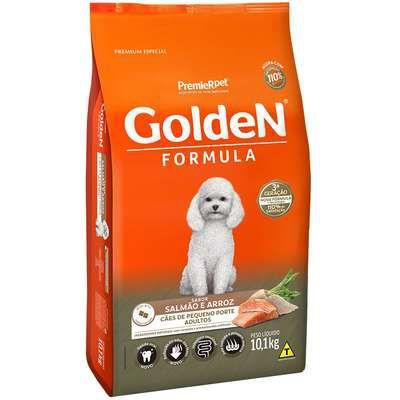 Ração Golden Formula Cao Adulto Pequeno Porte Salmao E Arroz 10,1kg