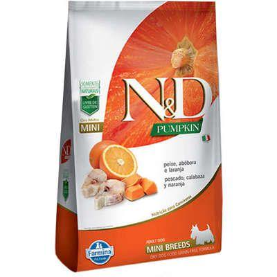 Ração N&D Pumpkin Cão Adulto Mini Breeds Peixe Abóbora E Laranja 2,5kg