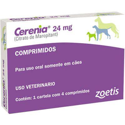 Antiemético Cerenia 24mg Caixa Com 4 Comprimidos