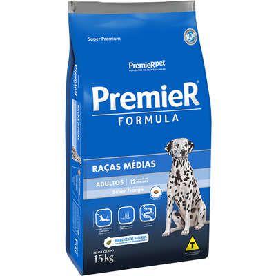 Ração Premier Formula Cao Adulto Raça Media Frango 15kg