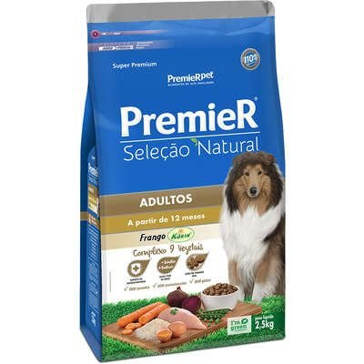 Ração Premier Seleção Natural Cão Adulto Frango Korin 2,5kg