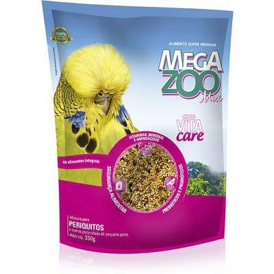 Ração Mega Zoo Periquito Mix 350g
