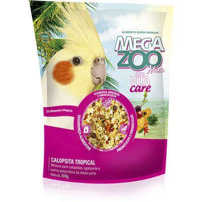 Ração Mega Zoo Calopsita Tropical Mix 500g