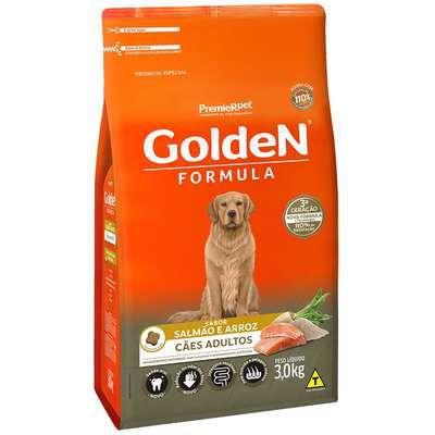 Ração Golden Fórmula Cão Adulto Salmão E Arroz 3kg