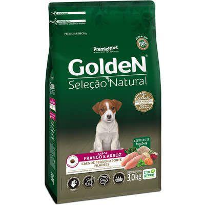 Ração Golden Seleção Natural Cão Filhote Pequeno Porte Frango E Arroz 3kg