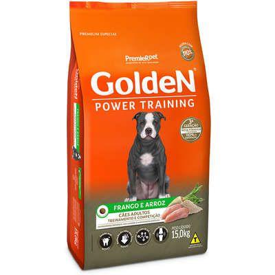 Ração Golden Power Training Cão Adulto Frango E Arroz 15kg