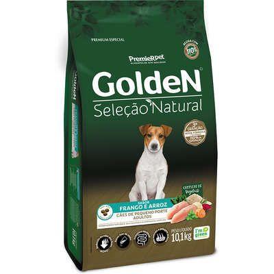 Ração Golden Seleção Natural Cão Adulto Pequeno Porte Frango E Arroz 10,1kg