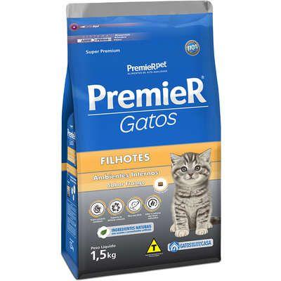 Ração Premier Ambientes Internos Gato Filhote Frango 1,5kg