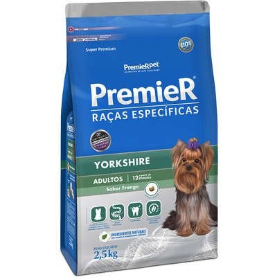 Ração Premier Raças Especificas Yorkshire Adulto 2,5kg