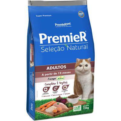 Ração Premier Seleção Natural Gato Adulto Frango Korin 7,5kg