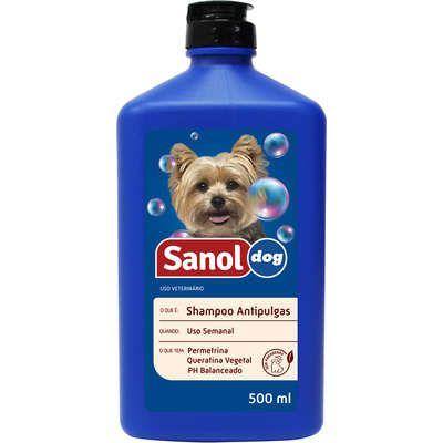 Shampoo Sanol Cao Antipulgas 500ml