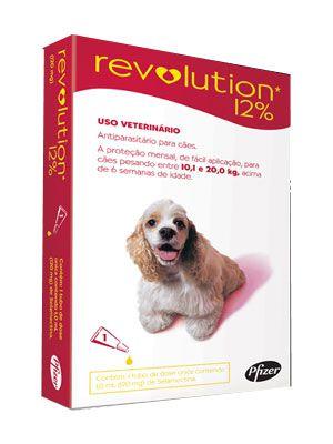 Antipulga Revolution 12% Cao 10 A 20kg 1ml Caixa Com 1 Pipeta